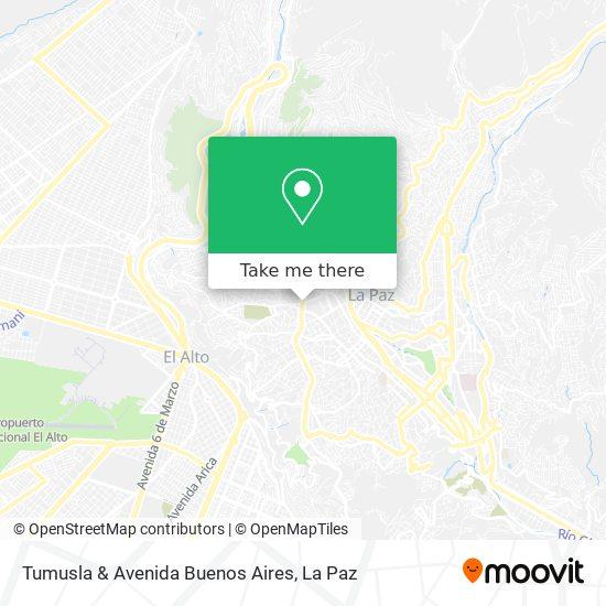 Tumusla & Avenida Buenos Aires map