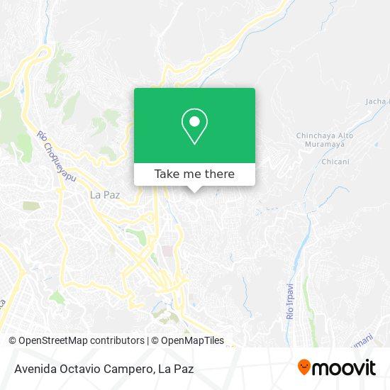 Avenida Octavio Campero map