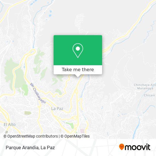 Parque Arandia map