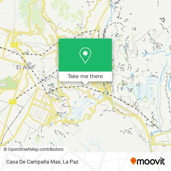 Casa De Campaña Mas map