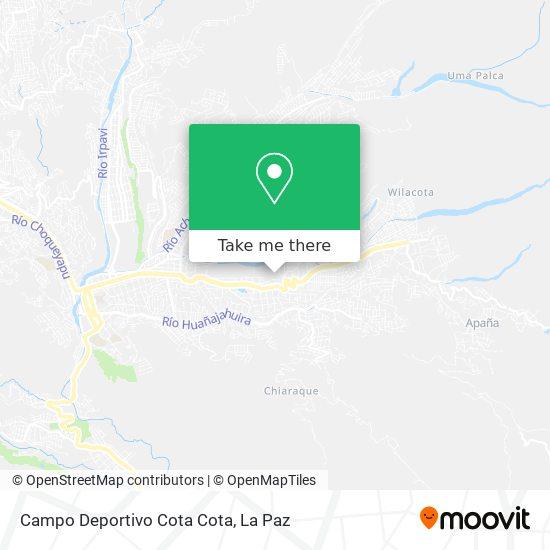 Campo Deportivo Cota Cota map