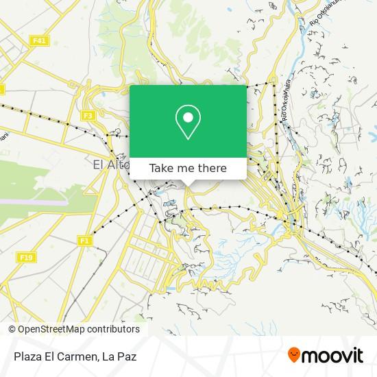 Plaza El Carmen map