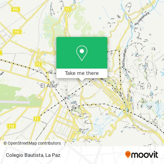 Colegio Bautista map