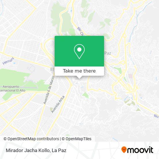 Mirador Jacha Kollo map