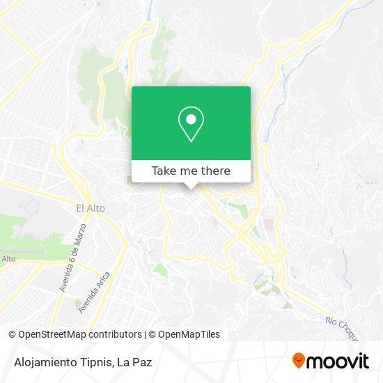 Alojamiento Tipnis map