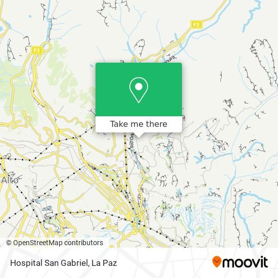 Hospital San Gabriel map