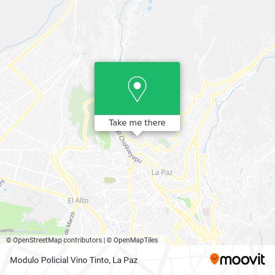 Reten Policial Vino Tinto map
