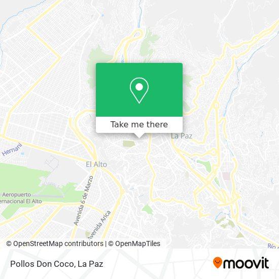 Pollos Don Coco map