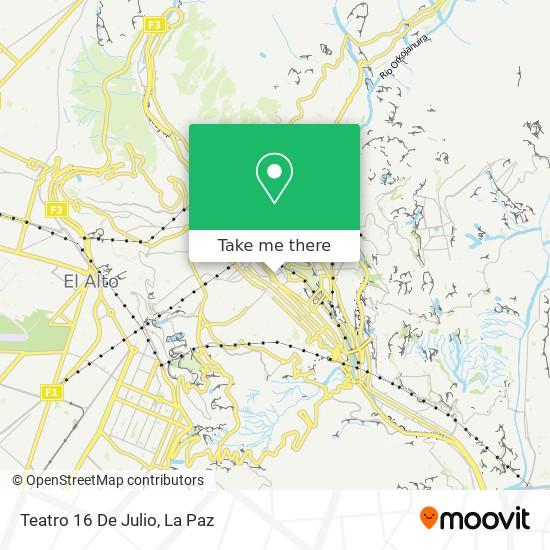 Teatro 16 De Julio map