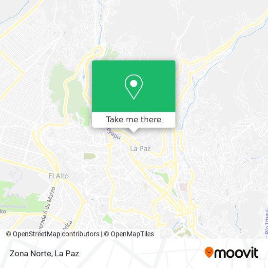 Zona Norte map