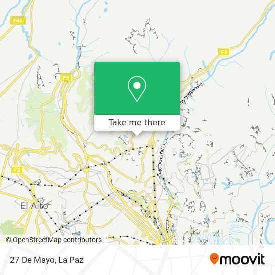 27 De Mayo map
