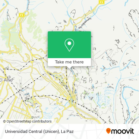 Universidad Central (Unicen) map