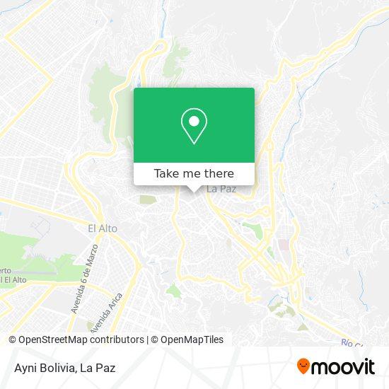 Ayni Bolivia map