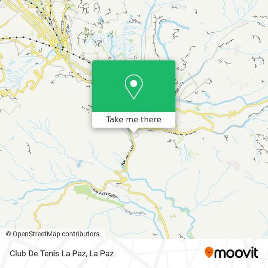 Club De Tenis La Paz map