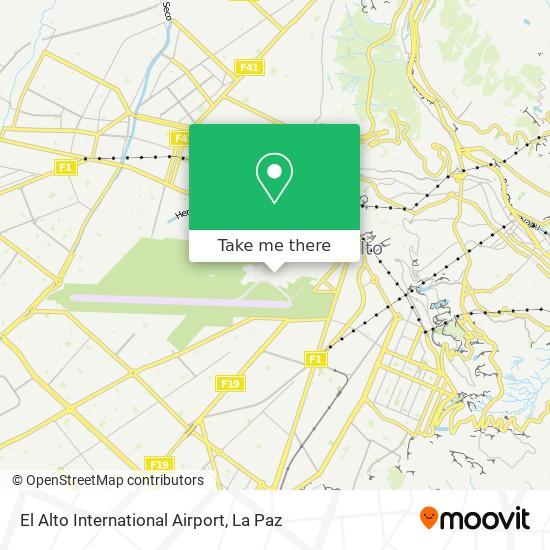 El Alto International Airport map
