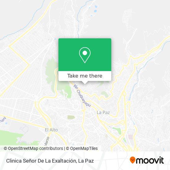 Clinica Señor De La Exaltación map