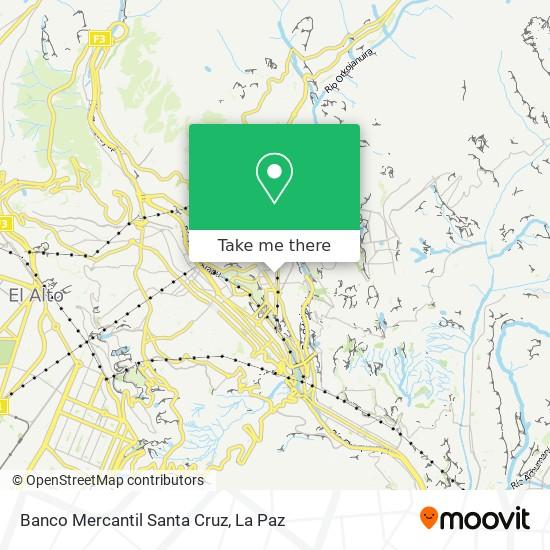 Banco Mercantil Santa Cruz map