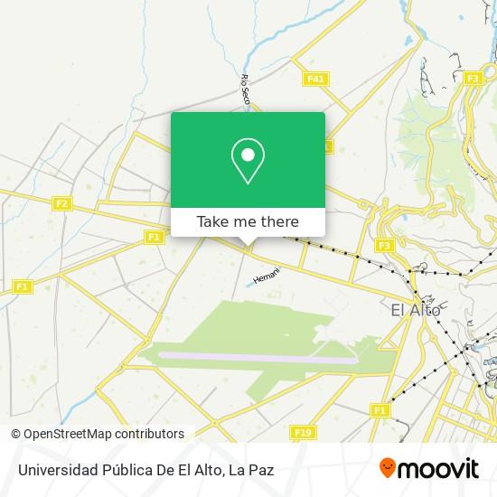 Universidad Pública De El Alto map