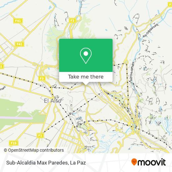 Sub-Alcaldia Max Paredes map