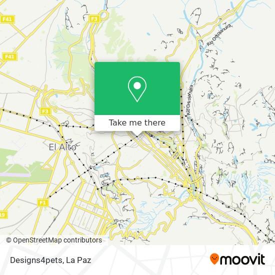 Designs4pets map