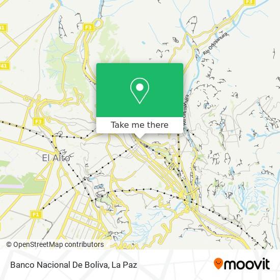Banco Nacional De Boliva map