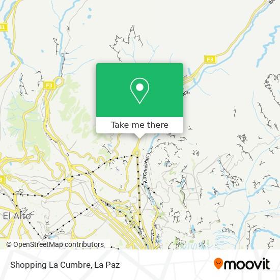Shopping La Cumbre map