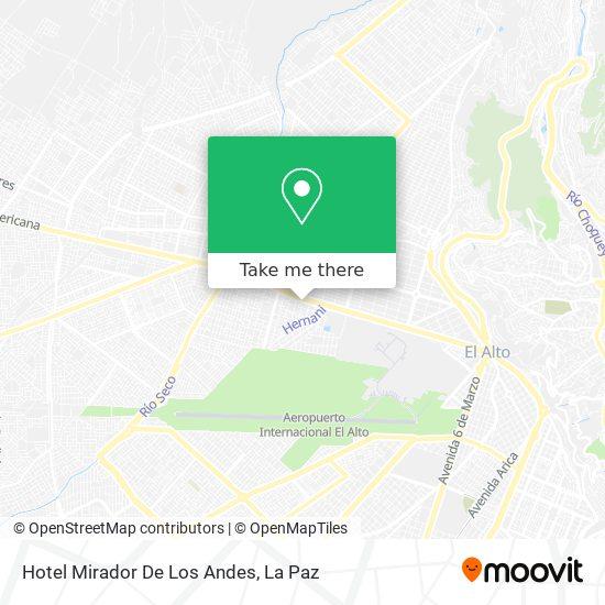 Hotel Mirador De Los Andes map