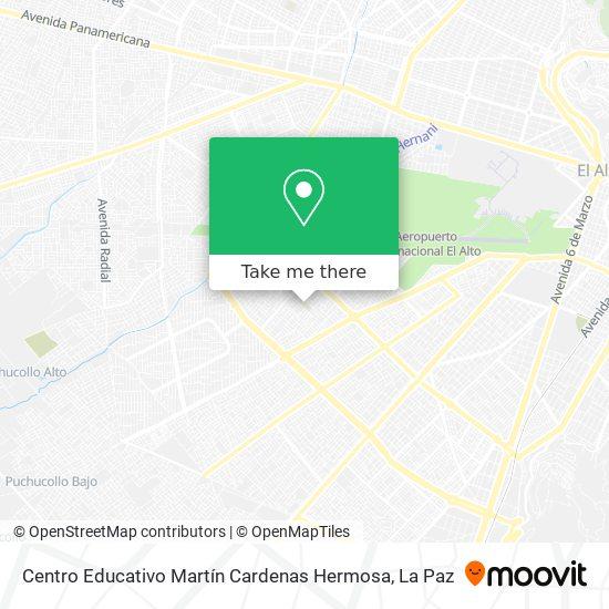 Centro Educativo Martín Cardenas Hermosa map