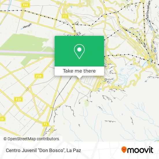 """Centro Juvenil """"Don Bosco"""" map"""