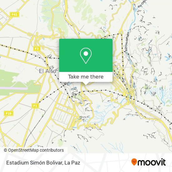 Estadium Simón Bolivar map