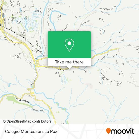 Colegio Montessori map