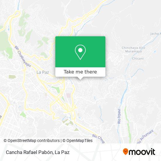 Cancha San Antonio map