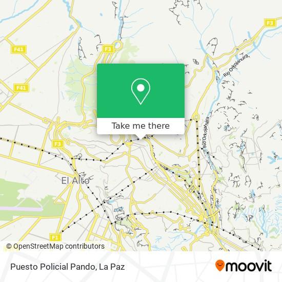 Puesto Policial Pando map
