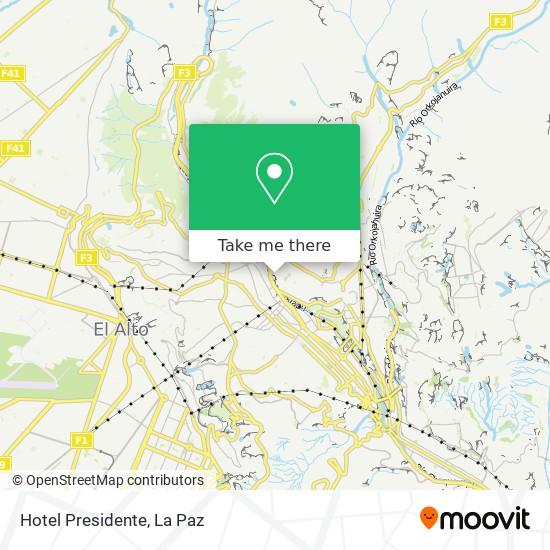 Hotel Presidente map