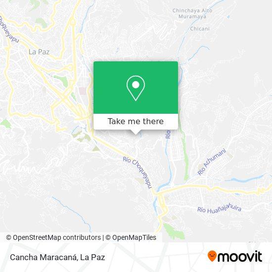 Cancha Maracaná map