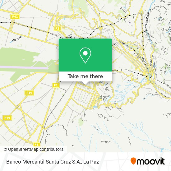 Banco Mercantil Santa Cruz S.A. map