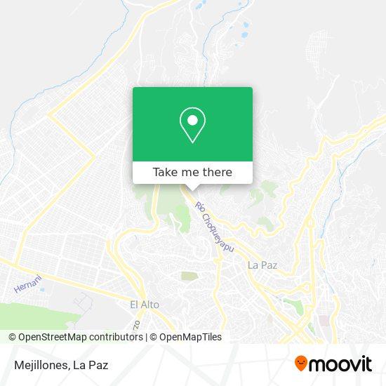 Mejillones map
