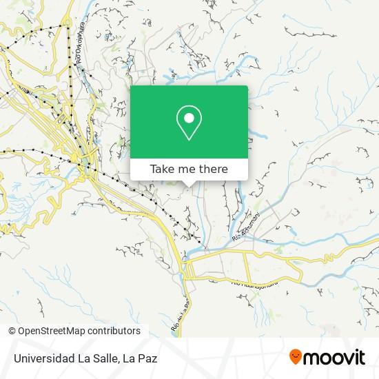 Universidad La Salle map