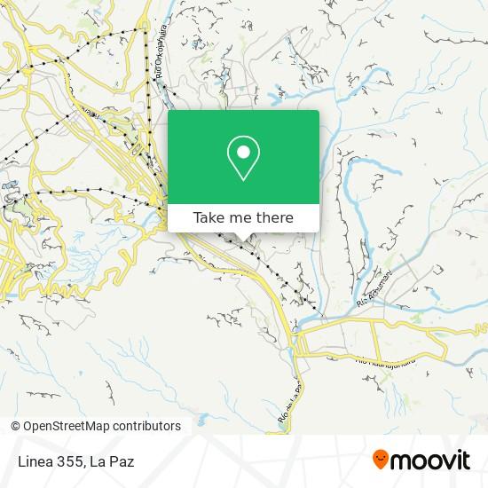 Linea 355 map
