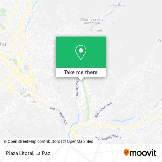 Plaza Litoral map