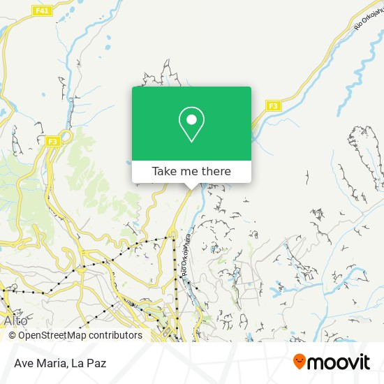 Ave Maria map