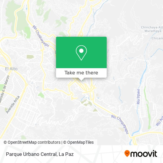 Parque Urbano Central map