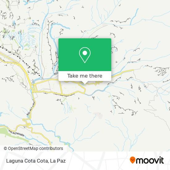 Laguna Cota Cota map