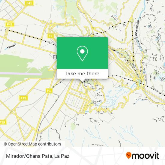 Mirador/Qhana Pata map