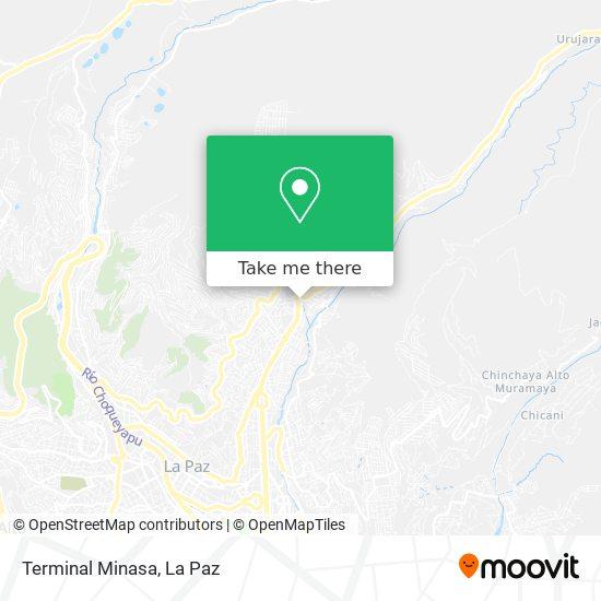 Terminal Provincial Minasa Yungas map