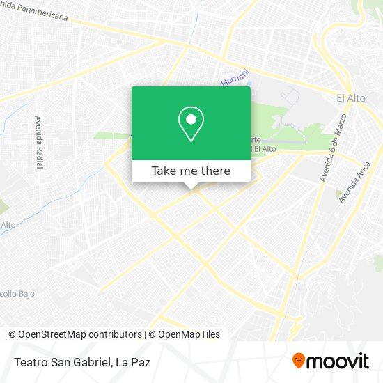 Teatro San Gabriel map