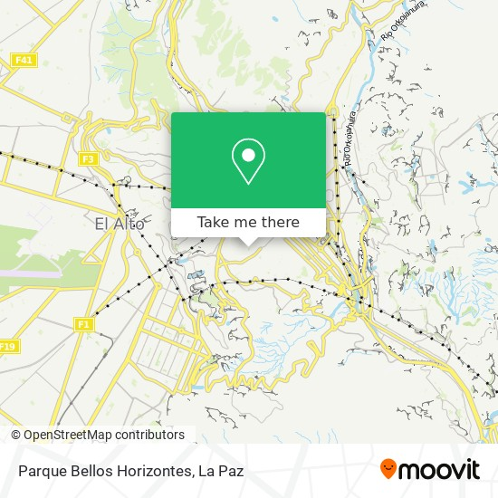 Parque Bellos Horizontes map