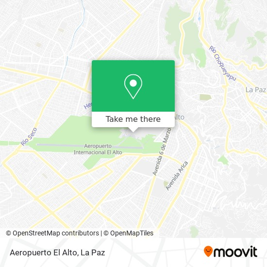 Aeropuerto El Alto map