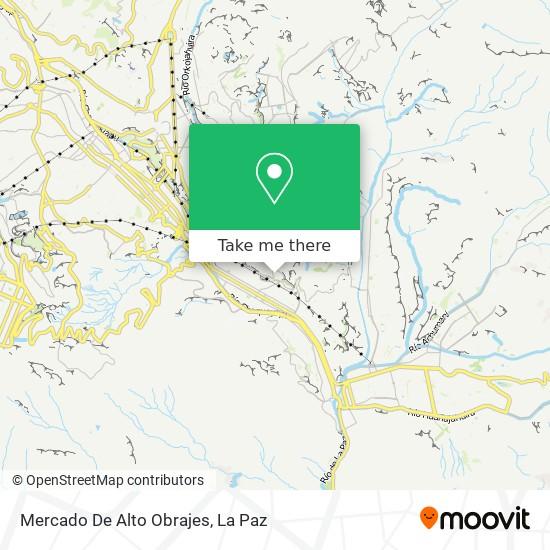Mercado De Alto Obrajes map