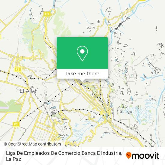 Liga De Empleados De Comercio Banca E Industria map